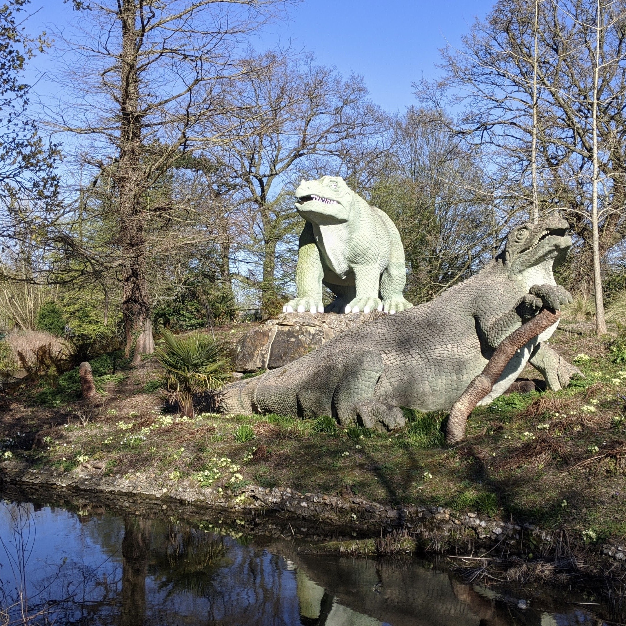 Dinosaur Lake, Crystal Palace, London, UK on 5th April 2020 – by Sam Clements and Louise Owen